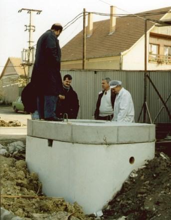 Pre-cast concrete Collection Pit.