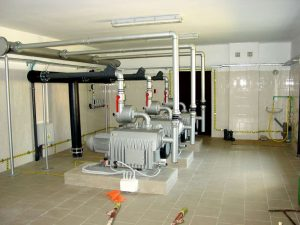 630 mᶾ/hr Vacuum Pumps inside Nadarzyn Vacuum Station