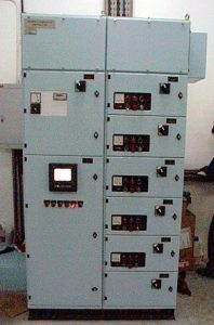 Electrical Control Panel situated in the Vacuum Station