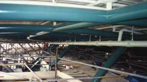 Vacuum Ring Main suspended from roof structure